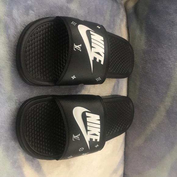 size 40 ba262 88736 Customized Nike Slippers NWT